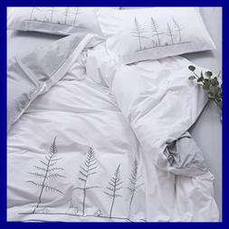 Twin Duvet Cover Set Kids Cotton Comforter Striped W Tree Pr