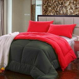 Twin,Queen, King Size Reversible Down Alternative Comforter