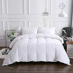 Cal-King Lightweight Down Comforter Goose Duck Down Feather