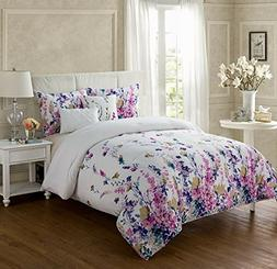 VCNY Home Twin XL Size Comforter Set in Multicolor 4 Pc Set