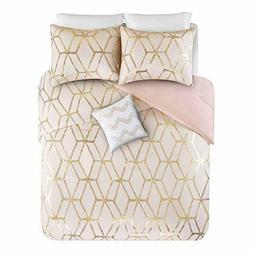 Comfort Spaces Ultra Soft 4 Pieces Full/Queen Comforter Set