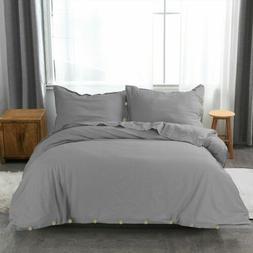 Ultra Soft Duvet Cover Set for Comforter with Pillow Shams T