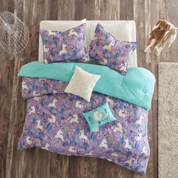 Unicorn Bedding Set For Girls Teen Twin Kids Horse Comforter