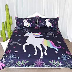 ARIGHTEX Unicorn Floral Bedding Unicorn Woodland Fantasy Art