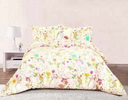 Unicorn Girls Bedding Full/Queen 4 Piece Comforter Bed Set,
