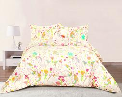 Unicorn Girls Bedding Twin or Full/Queen Comforter Bed Set,