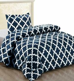 Utopia Bedding Printed Comforter Set  with 1 Pillow Sham