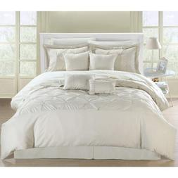 Chic Home Vermont 8-Piece Comforter Set, Queen, Beige
