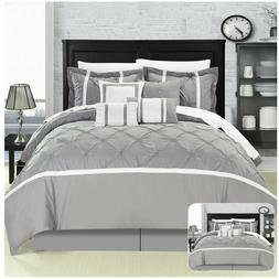 Vermont Grey 12 Piece Comforter Bed In A Bag Set With Sheet