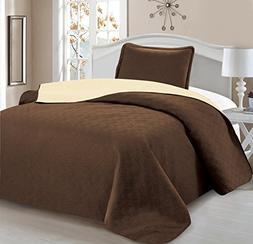 Home Sweet Home Victoria Design Reversible 2 PC Quilt Bedspr