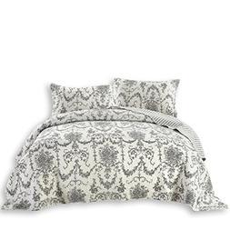 DaDa Bedding Damask Victorian Candelabra - Elegant Jacquard