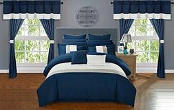 Chic Home Vixen Comforter Set, Navy, Queen