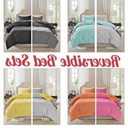 Vixie Reversible Goose Down Alternative Comforter Mini Set 2