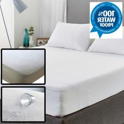 Waterproof Towel Mattress Protector Bed Cover Deep Fitted Sh