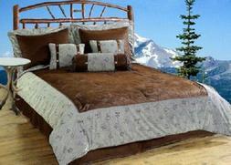 Western Comforter Set GRAY & BROWN MULTI - BRANDED 5PC & 7PC
