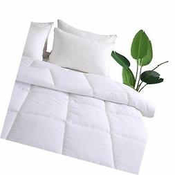 DECROOM White Comforter Set King Size,2 Bonus Pillow Shams,D