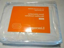 "Linenspa White Down Alternative Microfiber Comforter 88"" x 9"