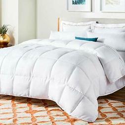 Linenspa White Down Alternative Quilted Duvet Insert Comfort