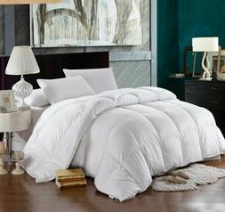 White Goose Down Alternative Comforter Duvet Cover Insert Qu