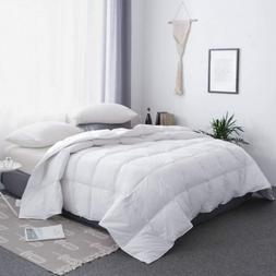 BESC White Goose Down Comforter All Season Full Size - Hotel