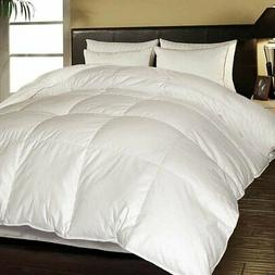 Hotel Grand White Goose Feather & Down Comforter, Full/ Quee