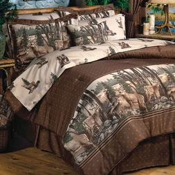 Whitetail Deer Bedding Comforter Set ~ 4 Sizes with sheets~W