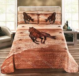Wild West Horse Western Star Style Quilt Bedspread Comforter