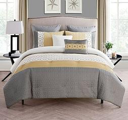 VCNY Home Winston Polyester 7 Piece SUPER SOFT Comforter Set