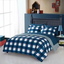 WK682820 Comforter Set, 64&quot X 86&quot, Blue Home &amp Ki