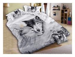 wolf duvet cover set queen