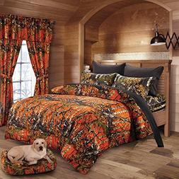 20 Lakes Woodland Hunter Camo Comforter, Sheet,Pillowcase Se