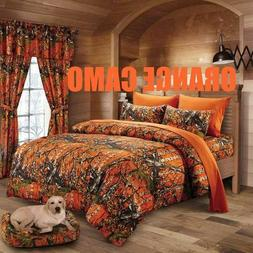 Regal Comfort The Woods Reversible Comforter 1 PC Orange Cam