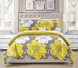 Chic Home 3 Piece Woodside Abstract Large Scale Floral Print