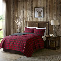 Woolrich WR14-1783 Check Quilt Mini Set Full/Queen Red,Full/