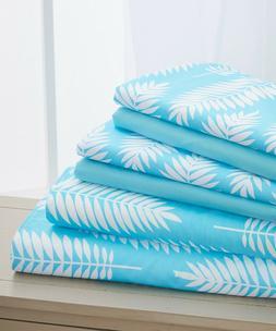 Elegant Comfort Wrinkle Free -  6 Piece  Feather Design Shee