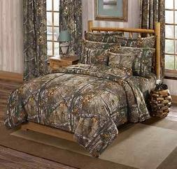 Realtree XTRA Camouflage 3 Pc King Comforter Bedding Set - C
