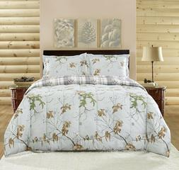 Realtree Xtra Colors Queen Comforter Set 7pc w/sheets Revers