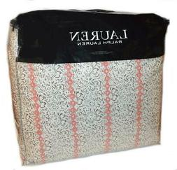 Ralph Lauren Yasmine Coral Grey Floral 3PC King Comforter Se
