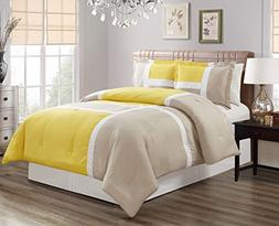 Grand Linen 3 piece Yellow Goose Down Alternative Color Pane