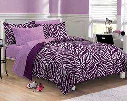 My Room Zebra Purple Ultra Soft Microfiber Comforter Sheet S