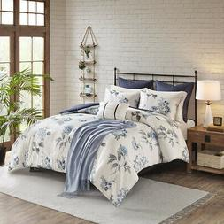 Madison Park Zennia 7 Piece Printed Seersucker Comforter Set
