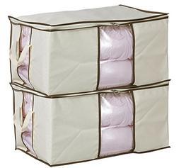 MISSLO Jumbo Zippered Storage Bag for Closet King Comforter,