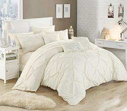 Perfect Home 10 Piece Zita Pinch Pleated, ruffled and pleate
